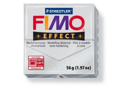 Fimo Effect Polymer Clay 56g Silver Col.81