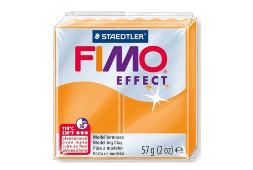 Fimo Effect Polymer Clay 56g Translucent Orange Col.404