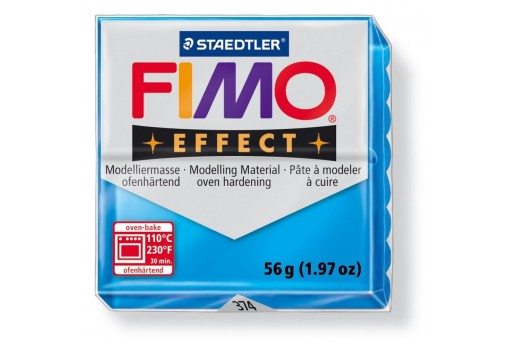 Fimo Effect Polymer Clay 56g Transparent Blue Col.374