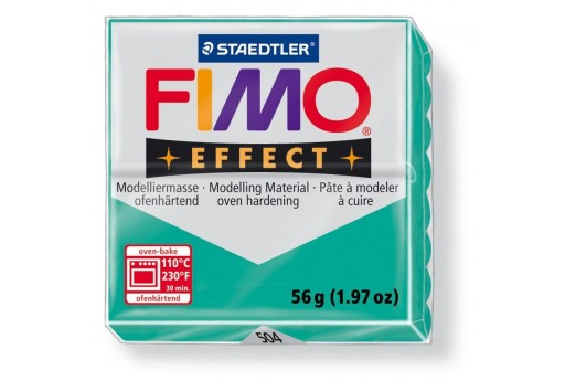 Fimo Effect Polymer Clay 56g Transparent Green Col.504