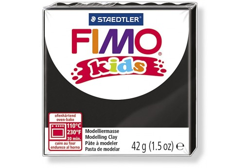 Fimo Kids Polymer Clay 42g Black Col.9