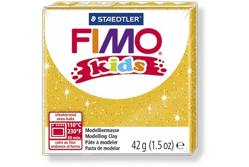 Fimo Kids Polymer Clay 42g Glitter Gold Col.112