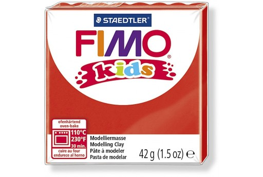 Fimo Kids Polymer Clay 42g Red Col.2