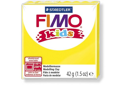 Fimo Kids Polymer Clay 42g Yellow Col.1