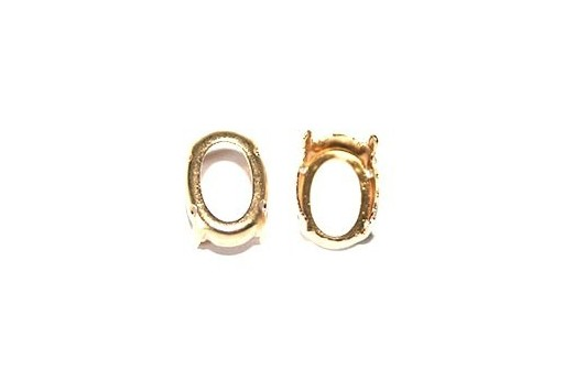 Gold Setting Oval 10x14mm - 6pcs