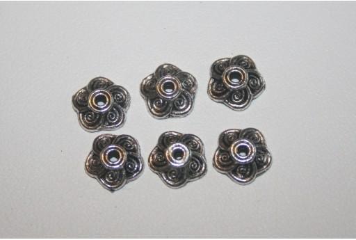 18 Coppette Argento Tibetano 9mm TIB62