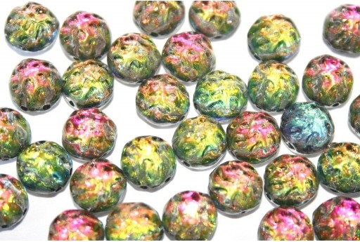 Baroque Cabochon 2 Hole Backlit Utopia 7mm - 12pcs