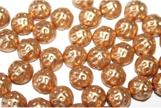 Cabochon Due Fori Baroque Bronze Pale Gold 7mm - 12pz