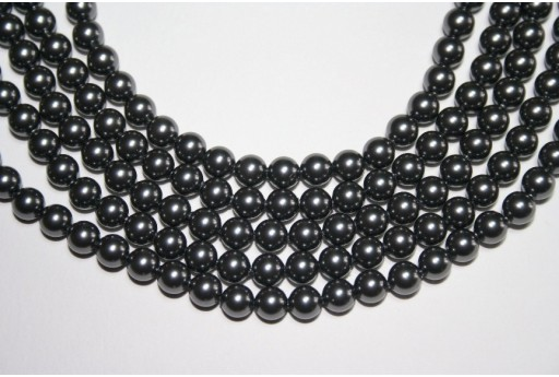 Perle Swarovski 5810 Dark Grey 6mm - 12pz