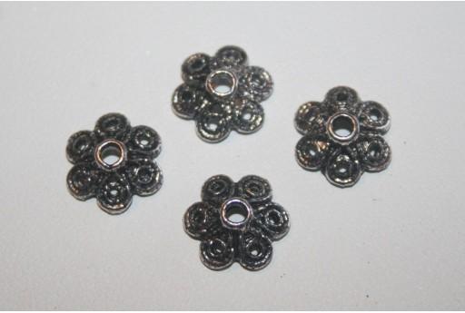 12 Coppette Argento Tibetano 12,5mm TIB64