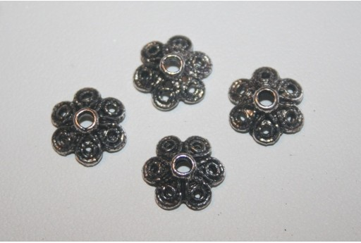 Tibetan Silver Bead Caps 12,5mm - 12pcs