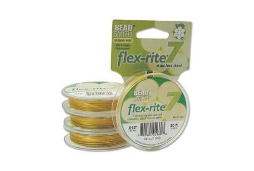 Cavetto Acciaio Flexrite Oro 0,30mm 9,14mt.