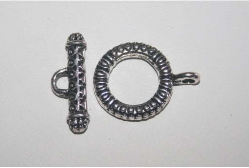 Tibetan Silver Toggle Bar Clasps 17,5x23mm - 3pcs