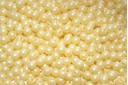 Czech Round Beads Powdery Pastel Yellow 3mm - 100pcs