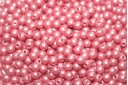 Czech Round Beads Powdery Pastel Coral 3mm - 100pcs