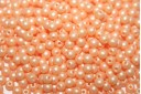 Czech Round Beads Powdery Pastel Orange 3mm - 100pcs
