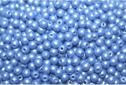 Czech Round Beads Powdery Blue 3mm - 100pcs