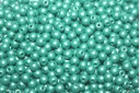 Czech Round Beads Powdery Teal 3mm - 100pcs