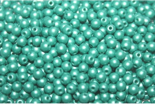 Tondi Vetro di Boemia Powdery Teal 3mm - 100pz
