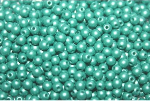 Czech Round Beads Powdery Teal 3mm - 100pcs