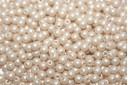 Czech Round Beads Powdery Beige 3mm - 100pcs