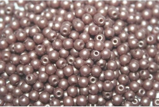 Czech Round Beads Powdery Brown 3mm - 100pcs