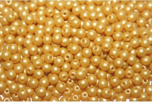 Czech Round Beads Powdery Yellow 3mm - 100pcs