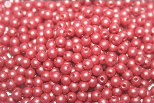 Czech Round Beads Powdery Clay 3mm - 100pcs