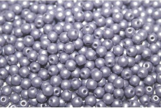 Czech Round Beads Powdery Lilac 3mm - 100pcs
