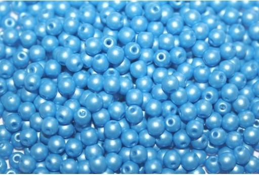 Czech Round Beads Powdery Light Blue 3mm - 100pcs