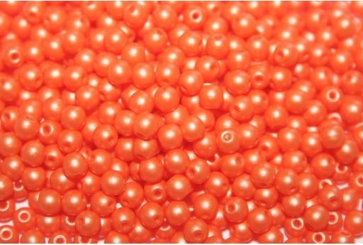 Czech Round Beads Powdery Orange 3mm - 100pcs