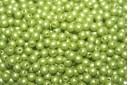 Tondi Vetro di Boemia Powdery Lime 3mm - 100pz