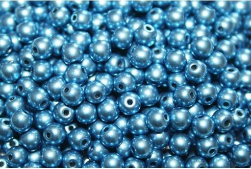 Tondi Vetro di Boemia Saturated Metallic Little Boy Blue 4mm - 100pz