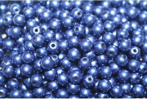 Tondi Vetro di Boemia Saturated Metallic Ultra Blue 4mm - 100pz