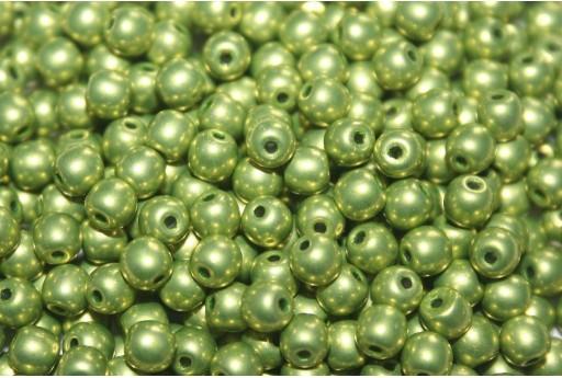 Tondi Vetro di Boemia Saturated Metallic Lime Punch 4mm - 100pz