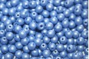 Czech Round Beads Powdery Blue 4mm - 100pcs