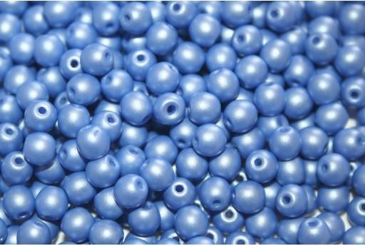 Tondi Vetro di Boemia Powdery Blue 4mm - 100pz