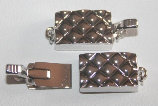 Chiusura Rettangolare Rame Rodiato 8,3x13,5mm DS119