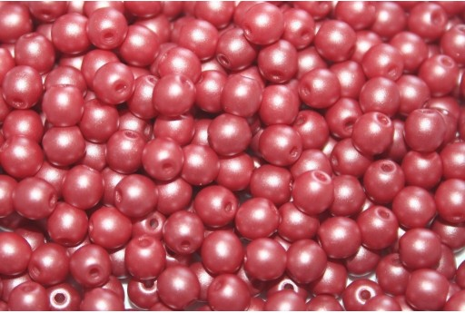 Czech Round Beads Powdery Bordeaux 4mm - 100pcs