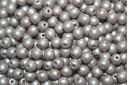 Czech Round Beads Powdery Taupe 4mm - 100pcs