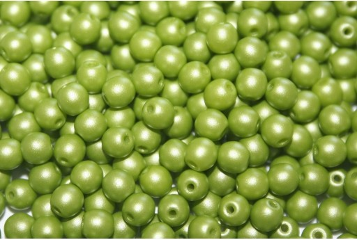 Tondi Vetro di Boemia Powdery Lime 4mm - 100pz