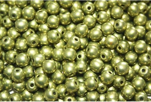 Tondi Vetro di Boemia Saturated Metallic Primrose Yellow 4mm - 100pz