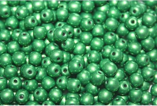 Tondi Vetro di Boemia Saturated Metallic Kale 4mm - 100pz