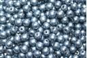 Czech Round Beads Saturated Metallic Niagara 4mm - 100pcs