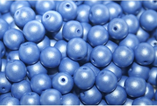 Czech Round Beads Powdery Blue 6mm - 50pcs