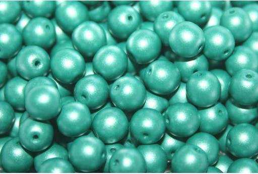 Czech Round Beads Powdery Teal 6mm - 50pcs