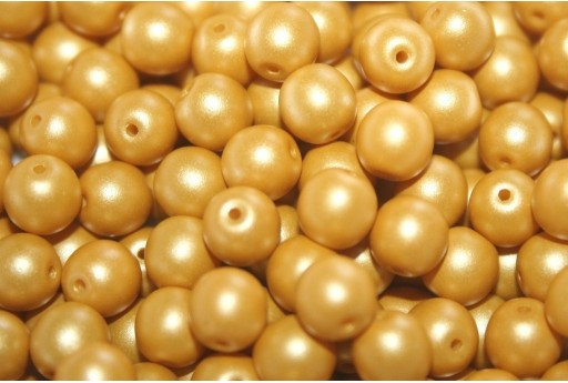 Czech Round Beads Powdery Yellow 6mm - 50pcs