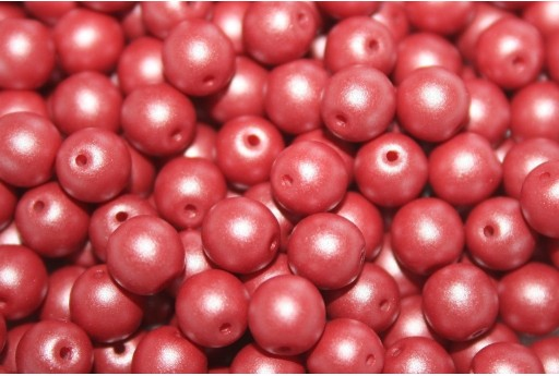 Czech Round Beads Powdery Clay 6mm - 50pcs