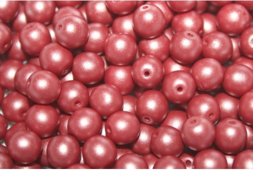 Czech Round Beads Powdery Bordeaux 6mm - 50pcs