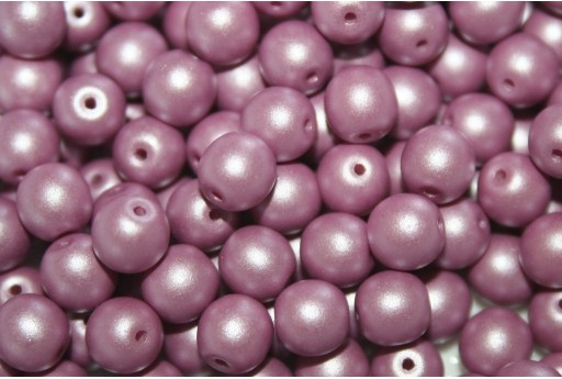 Czech Round Beads Powdery Lavender 6mm - 50pcs